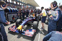 Sebastian Vettel, Red Bull Racing et Guillaume Rocquelin, Red Bull Racing l'ingénieur de course de Sebastian Vettel