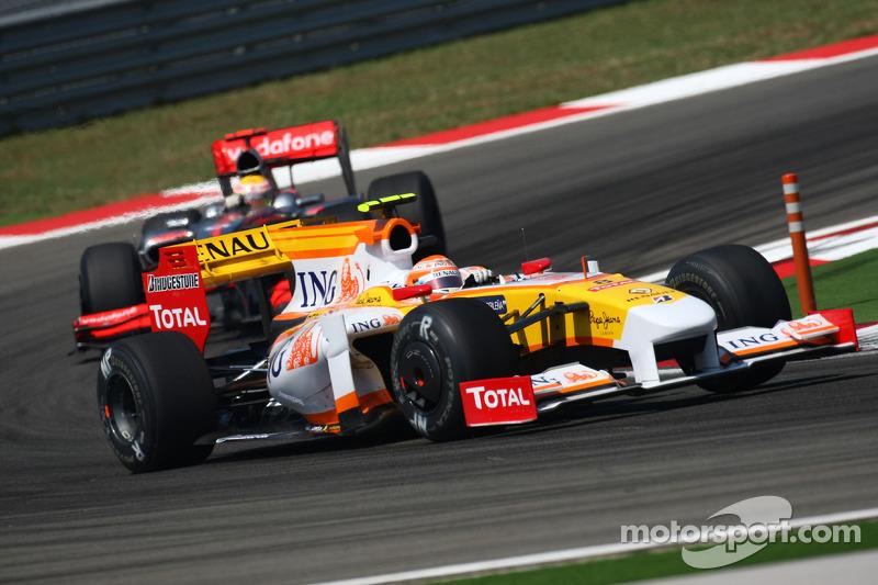 Nelson A. Piquet, Renault F1 Team ve Lewis Hamilton, McLaren Mercedes