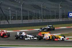 Fernando Alonso, Renault F1 Team et Robert Kubica, BMW Sauber F1 Team
