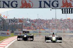 Sebastien Buemi, Scuderia Toro Rosso, Rubens Barrichello, Brawn GP