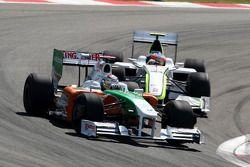 Adrian Sutil, Force India F1 Team, Rubens Barrichello, Brawn GP