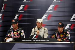 Mark Webber, Red Bull Racing, Jenson Button, Brawn GP, Sebastian Vettel, Red Bull Racing