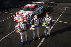 IMSA Performance Matmut team photoshoot: Raymond Narac, Patrick Pilet and Patrick Long