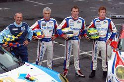 Michel Lecourt, Raymond Narac, Patrick Pilet et Patrick Long