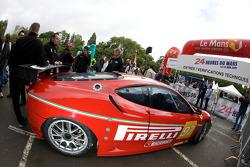 #97 BMS Scuderia Italia Ferrari F430 GT enters scrutineering