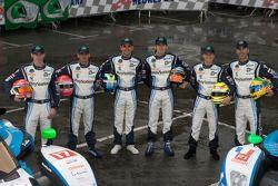 #17 Pescarolo Sport Peugeot 908: Benoit Tréluyer, Jean-Christophe Boullion, Simon Pagenaud, #16 Pesc