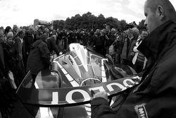 Team Peugeot Total Peugeot 908 arrives at scrutineering
