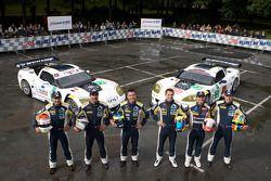 #72 Luc Alphand Aventures Corvette C6.R: Luc Alphand, Patrice Goueslard, Stephan Grégoire, #73 Luc Alphand Aventures Corvette C6.R: Xavier Maassen, Yann Clairay, Julien Jousse