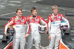 #15 Team Kolles Audi R10 TDI: Christijan Albers, Christian Bakkerud, Giorgio Mondini