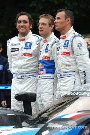 Franck Montagny, Sébastien Bourdais and Stéphane Sarrazin