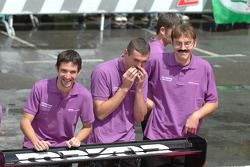 OAK Racing mechanics have a bit of fun