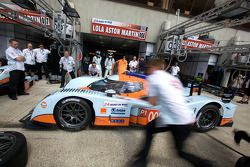 Pit stop practice for Aston Martin Racing