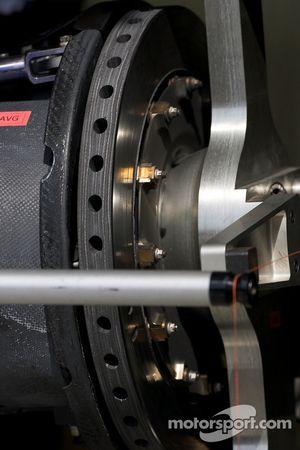 Team Peugeot Total Peugeot 908 brake detail