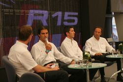 Lucas Luhr, Mike Rockenfeller and Marco Werner