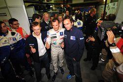 Pole sitters Franck Montagny, Sébastien Bourdais and Stéphane Sarrazin