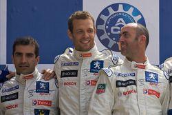 LMP1 podium: class an overall winners Marc Gene, Alexander Wurz and David Brabham