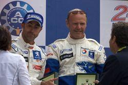 LMP1 podium: David Brabham with Team Peugeot Total boss Olivier Quesnel