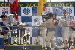 LMP1 podium: champagne celebration