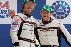 Michelin Green X podium: winners Kristian Poulsen and Emmanuel Collard