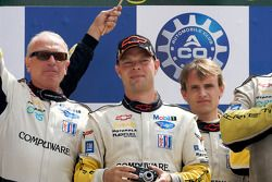 LMGT1 podium: class winners Jan Magnussen and Antonio Garcia
