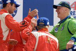 LMGT2 podium: Risi Competizione drivers celebrate
