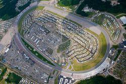 Vue aérienne du Michigan International Raceway