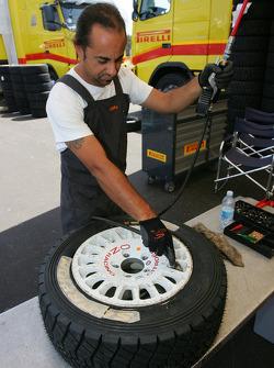 Pirelli team member