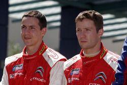 Podium: seconde place pour Sébastien Ogier et Julien Ingrassia, Citroen Junior Team Citroen C4 WRC