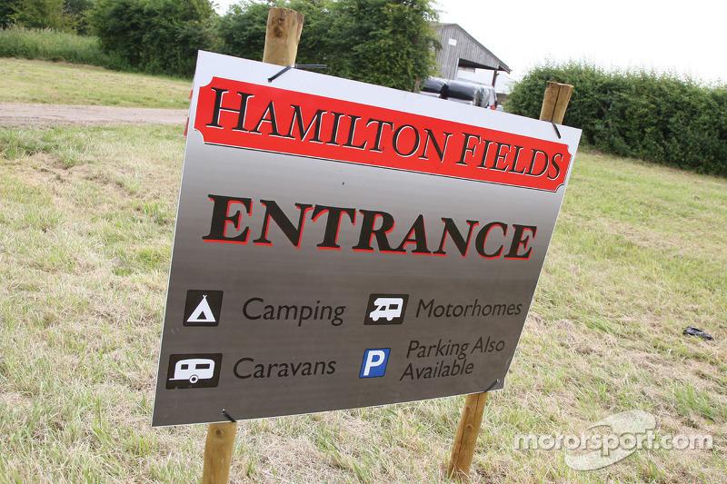 Hamilton fields campsite at British GP