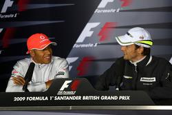 La conférence de presse FIA: Lewis Hamilton, McLaren Mercedes, Jenson Button, Brawn GP