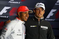 Пресс-конференция FIA: Льюис Хэмилтон, McLaren Mercedes и Дженсон Баттон, Brawn GP