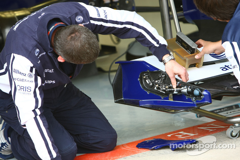 ön kanat flap mechanism, Williams F1 Team