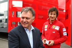 Dave Ryan con Massimo Rivola Scuderia Ferrari