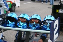 Crew helmets for the Luczo Dragon Racing Team