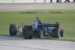 Milka Duno, Dreyer & Reinbold Racing sits in the infield grass
