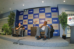 Grand Marshal Shaquille O'Neal and Texas Motor Speedway President Eddie Gossage