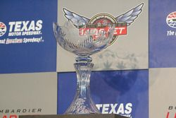 The Foyt-Rutherford Trophy given to the winner of the Bombardier Learjet 550k at Texas Motor Speedwa