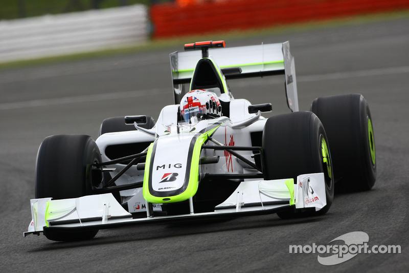 Jenson Button, Brawn GP / wave his hand