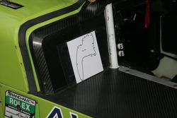 La carte de la piste dans la #76 Doran Racing Ford/Dallara