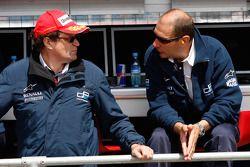 Didier Perrin, GP2 Technical Director with Bruno Michel, GP2 Series Organiser