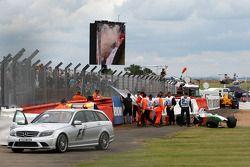 Машина Адриана Сутиля, Force India F1 Team после аварии