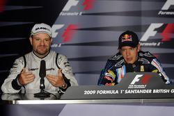 Conférence de presse : le poleman Sebastian Vettel, Red Bull Racing, seconde place Rubens Barrichell