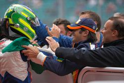Alberto Valerio célèbre sa victoire