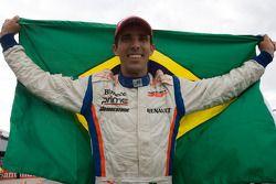 Alberto Valerio celebrates his victory