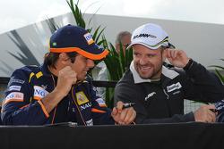 Nelson A. Piquet, Renault F1 Team et Rubens Barrichello, Brawn GP