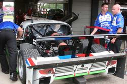 Zoom sur l'arrière #59 Brumos Racing Porsche Riley: Joao Barbosa, JC France