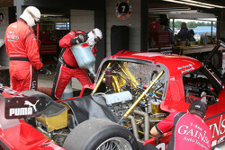 Travail sur la #99 GAINSCO/ Bob Stallings Racing Pontiac Riley: Jon Fogarty, Alex Gurney