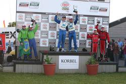 DP podium: les vainqueurs Scott Pruett et Memo Rojas, seconde place pour Nic Jonsson et Ricardo Zont