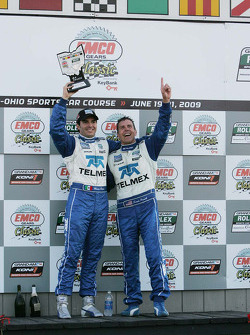 Le podium DP :les vainqueurs Scott Pruett et Memo Rojas
