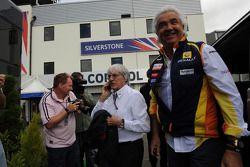 Bernie Ecclestone, FOM, en Flavio Briatore, teambaas Renault F1 Team